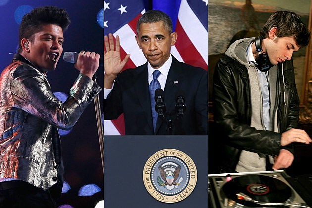 Want to see president barack obama singing uptown funk video