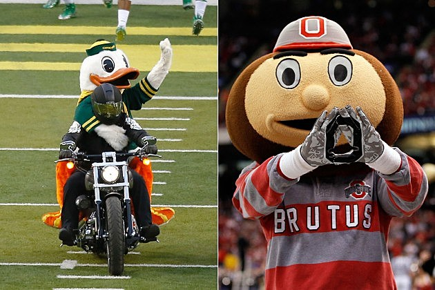 Oregon vs Ohio State mascots