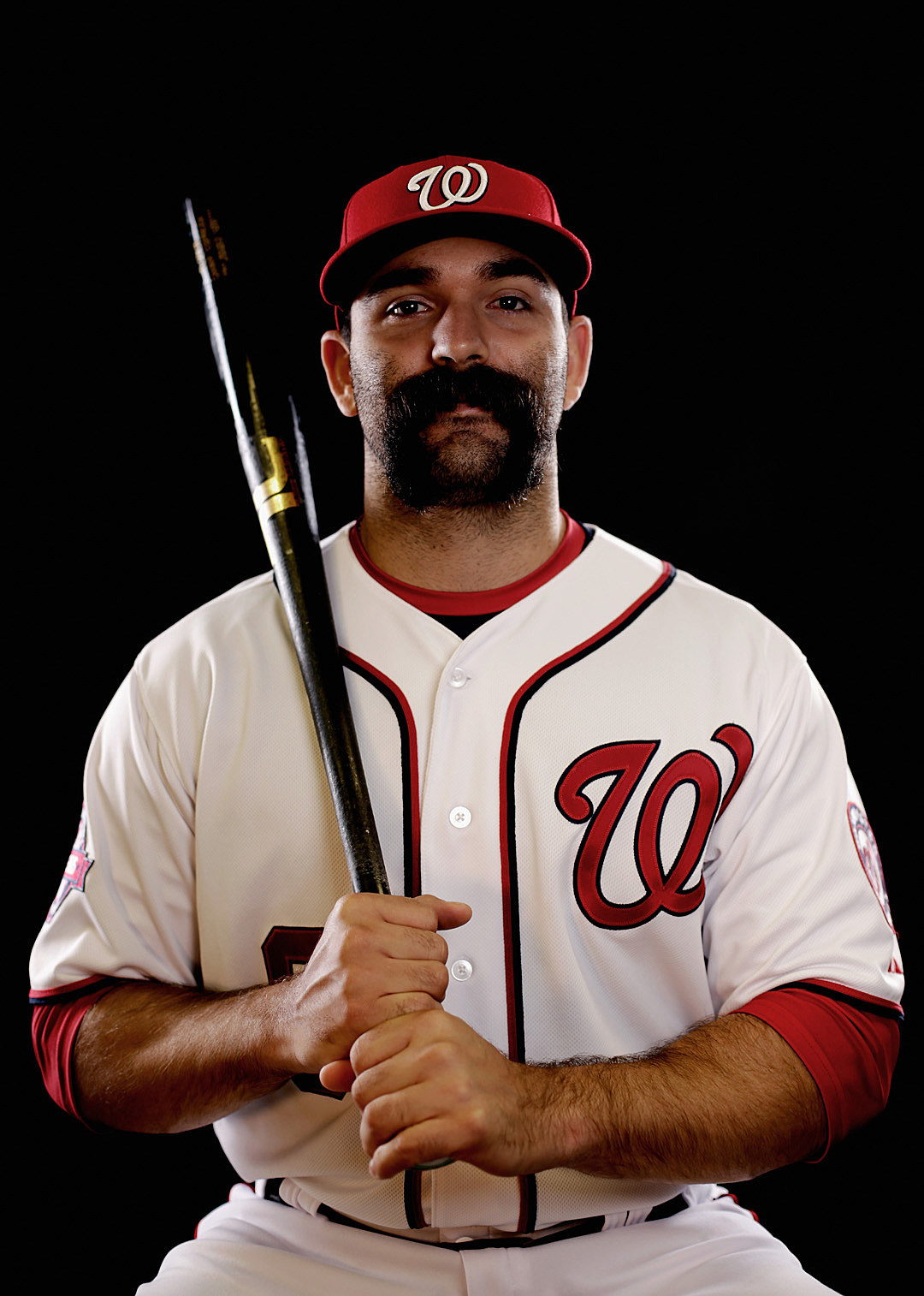 Danny Espinosa mustache and bat