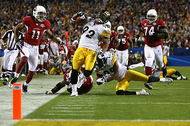 James Harrison pick-six Super Bowl XLIII