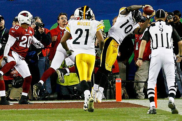 Santonio Holmes touchdown Super Bowl XLIII